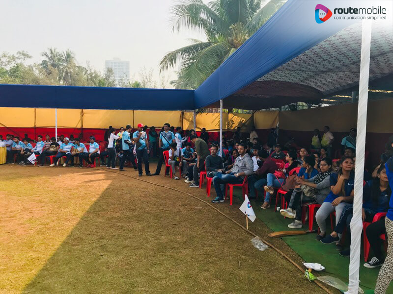 Employees Watching Route Mobile Premier League